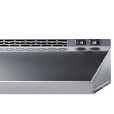 18 in. Non-Vented Under Cabinet Range Hood in Stainless Steel