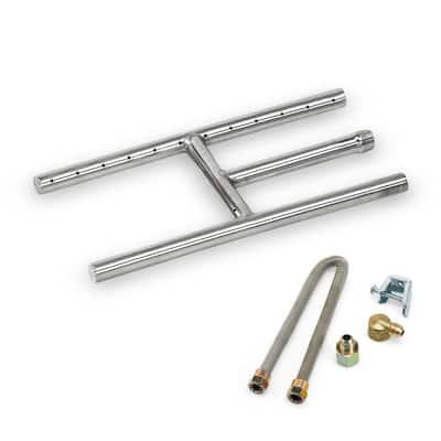 12 in. x 6 in. Stainless Steel H-Burner