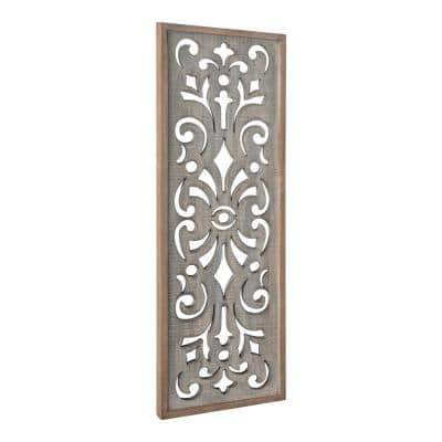 Palmares Wood Gray Wall Art Plaque