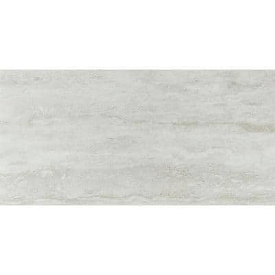 Take Home Tile Sample - Nyon Gray 12 in. x 24 in. Polished Porcelain Floor and Wall Tile - 4 in. x 4 in