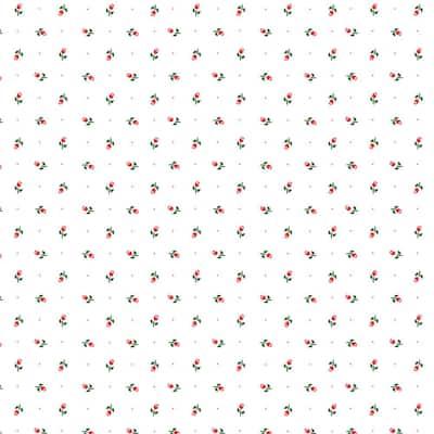 Creative Covering Pink Rosebud Adhesive Shelf and Drawer Liner