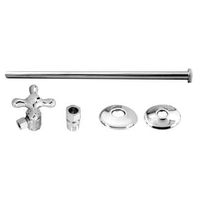 Universal Toilet Supply Kit in Polished Chrome