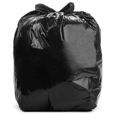 40 in. x 46 in. 45 Gal. Black Trash Bags (Pack of 100) 1.2 mil (eq) for Industrial and Janitorial