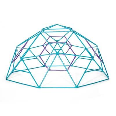 Teal and Purple Phobos Metal Climbing Dome
