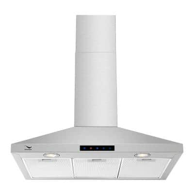 36 in. Convertible Stainless Steel Wall Mount Range Hood with Aluminum Mesh Filters, LED Lights, Touch Control