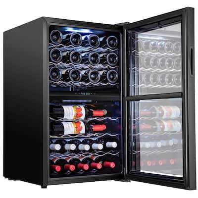 19.5 in. 43-Bottle Compressor Freestanding Dual Zone Wine and Beverage Cooler