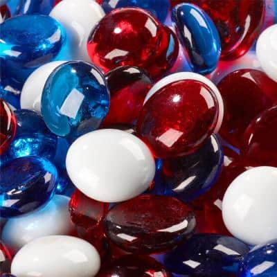 10 lbs. Fireworks Fire Glass Bead Blends for Indoor and Outdoor Fire Pits or Fireplaces
