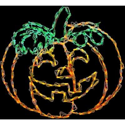 Happy Jack-O-Lantern Indoor/Outdoor LED Halloween Window Light