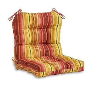 Kinnabari Stripe Outdoor Dining Chair Cushion