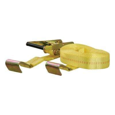 27' Yellow Cargo Strap with Flat Hooks (3,333 lbs.)