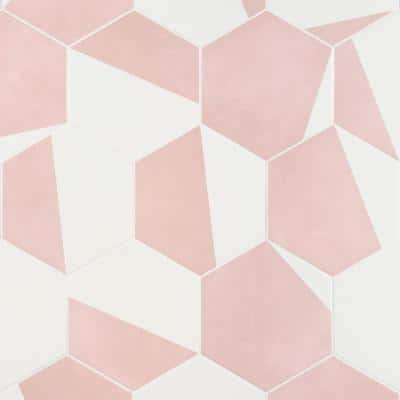 Eclipse Burst Blush 7.79 in. x 8.98 in. Matte Porcelain Floor and Wall Tile (6.03 sq. ft. / Case)