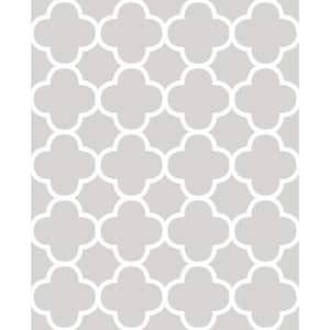 Origin Grey Quatrefoil Grey Wallpaper Sample