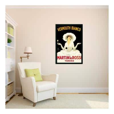 26 in. x 38 in. Outer Size Martini and Rossi by Marcello Dudovich Framed Art Print