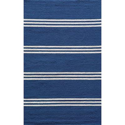 Veranda Maritime Blue 5 ft. x 8 ft. Indoor Area Rug