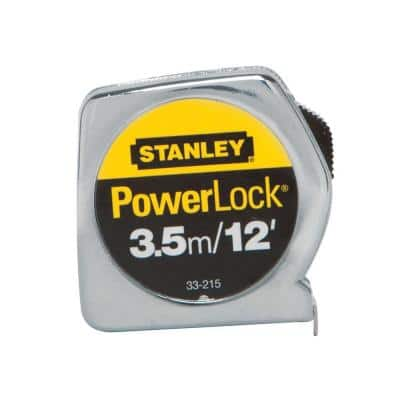 PowerLock 3.5m/12 ft. x 1/2 in. Tape Measure (Metric/English Scale)