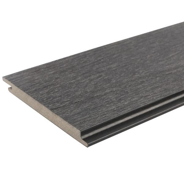 NewTechWood All Weather System 5.5 in. x 96 in. Composite Siding Board in Hawaiian Charcoal   The Home Depot