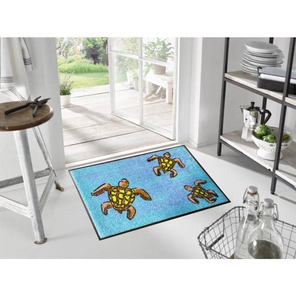 Studio 67 Whimsy Sea Turtles 20 In X 30 In Nylon Doormat W6787 The Home Depot
