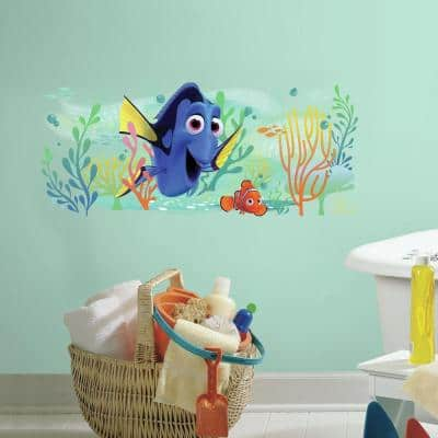 5 in. x 19 in. Finding Dory and Nemo 1-Piece Peel and Stick Giant Wall Graphic