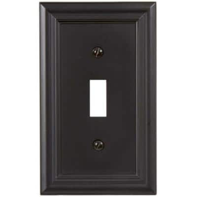 Continental 1 Gang Toggle Metal Wall Plate - Oil-Rubbed Bronze