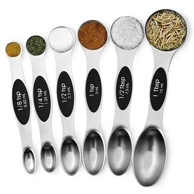 6-Piece Stainless Steel Measuring Spoon Set