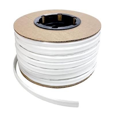 1/2 in. x 100 ft. White PVC Inside Corner Self-Adhesive Flexible Caulk and Trim Molding