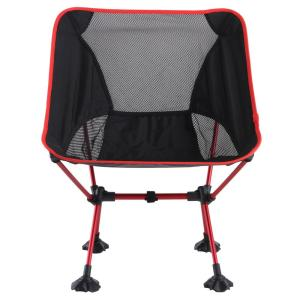Echosmile Red Aluminum Collapsible Chair