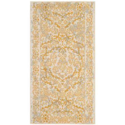 Evoke Ivory/Gold 2 ft. x 4 ft. Area Rug