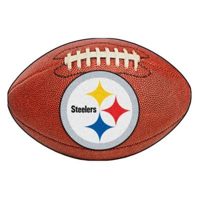 NFL Pittsburgh Steelers Photorealistic 20.5 in. x 32.5 in Football Mat