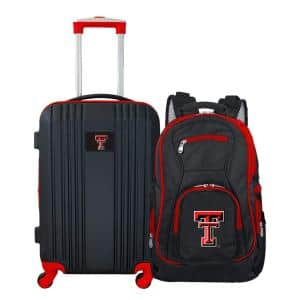 NCAA Texas Tech Red Raiders 2-Piece Set Luggage and Backpack