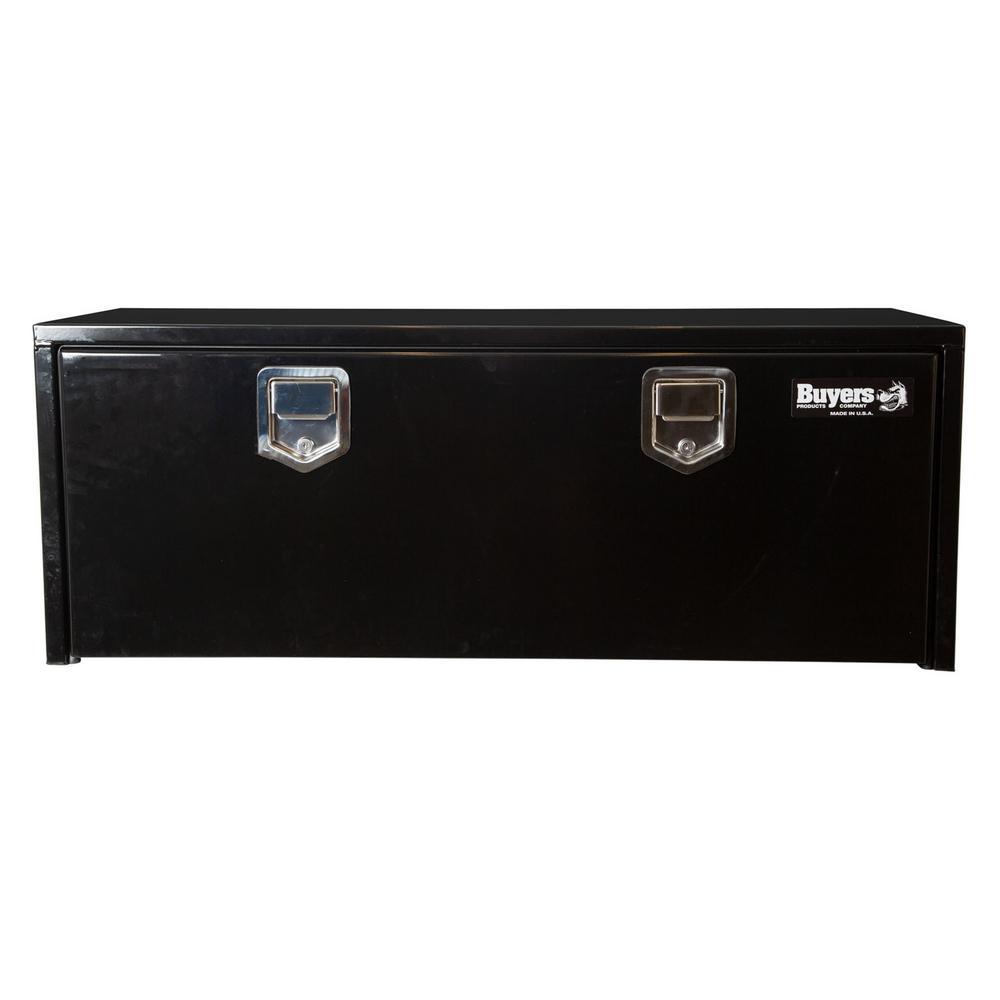 18 in. x 18 in. x 60 in. Gloss Black Steel Underbody Truck Tool Box