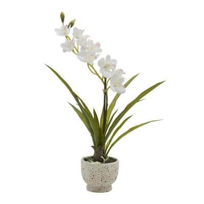 21 in. Artificial Orchid Plant