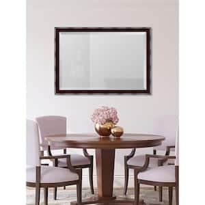 Medium Rectangle Mahogany Beveled Glass Classic Mirror (40 in. H x 28 in. W)