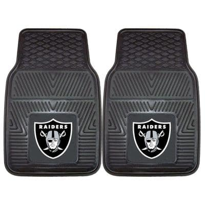 NFL - Las Vegas Raiders 18 in. x 27 in. 2-Piece Heavy Duty Vinyl Car Mat
