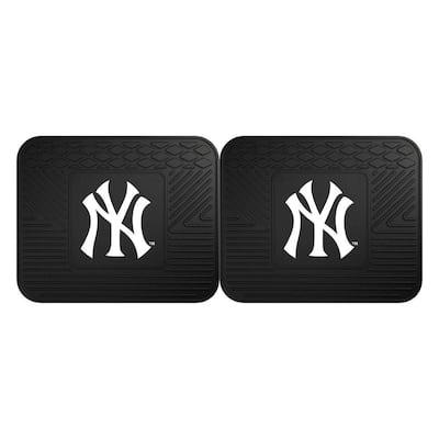 MLB New York Yankees Black Heavy Duty 2-Piece 14 in. x 17 in. Vinyl Utility Mat