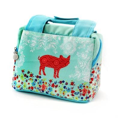 Life on the Farm 10.25 in. Pig Design Lunch Bag