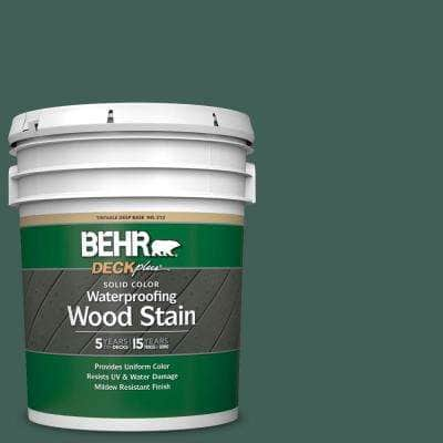 5 gal. #M440-7 Rainforest Solid Color Waterproofing Exterior Wood Stain
