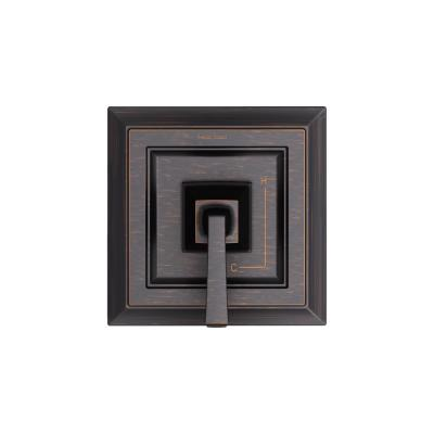 Town Square S 1-Handle Valve Trim Kit for Flash Rough-in Valves in Legacy Bronze (Valve Not Included)