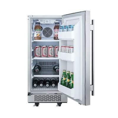 3.3 cu. ft. Built-in Outdoor Refrigerator in Stainless Steel
