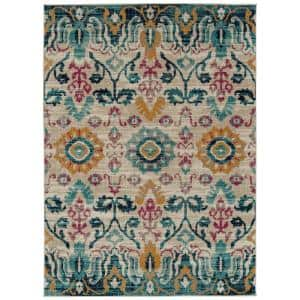 Kaleen Zuma Beach Collection Turquoise 2 Ft X 3 Ft Rectangle Indoor Outdoor Area Rug Zum10 78 23 The Home Depot