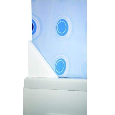 Shower Curtain Drip Guard Clip in White Minimizes Water Leakage