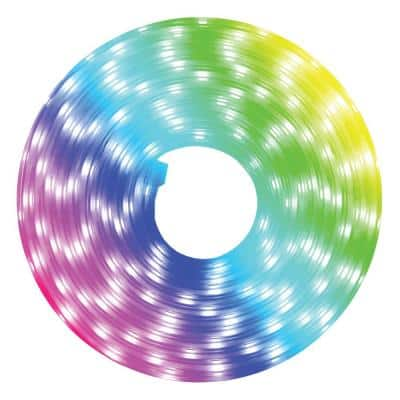 16.4 ft. Indoor/Outdoor LED Light Strip, Multi-Color and Multi-White