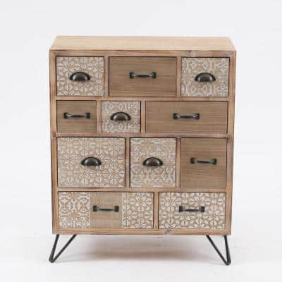 Metal & Wood Multi-Storage Cabinet