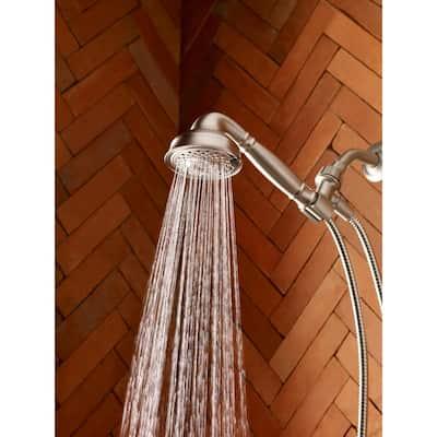 Brecklyn 8-Spray 4 in. Single Tub Wall Mount Handheld Adjustable Shower Head in Spot Resist Brushed Nickel