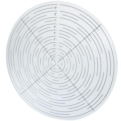 10 in. Clear Acrylic Round Center Finder Compass (Tool) for Wood Turning Lathe Work