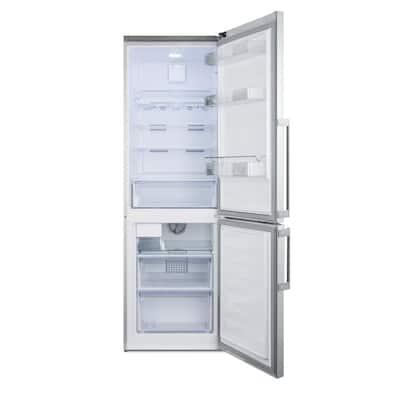 24 in. 11 cu. ft. Bottom Freezer Refrigerator in Stainless Steel, Counter Depth