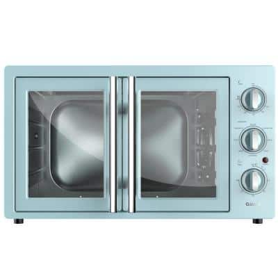 1800 W Retro Toaster Oven in Bebop Blue with Air Fry Total Fry 360, Dehydrate, Rotisserie