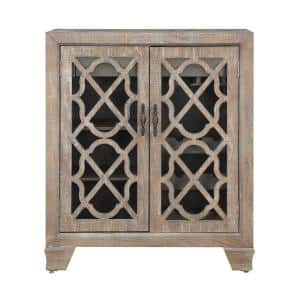 Bronte Light Brown 2-Door Wine Cabinet
