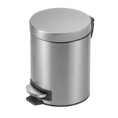 1.3 Gal. Stainless Steel Round Step-On Trash Can