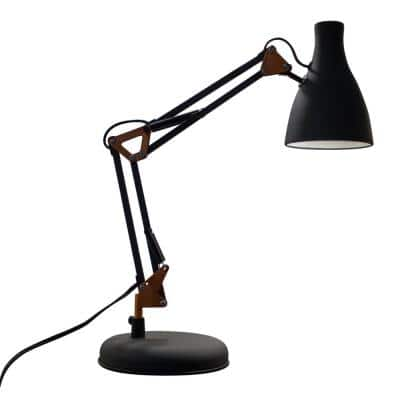 Loft 20 in. Sand Black Table Lamp with Copper Accent