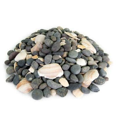 0.25 cu. ft. 5/8 in. to 7/8 in. San Quintin Mexican Beach Pebble Smooth Round Rock for Gardens, Landscapes and Ponds